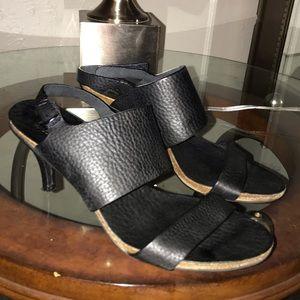 Pedro García Black Leather Strappy Sandal